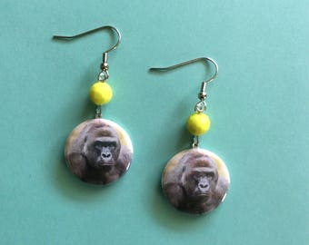 Harambe Earrings