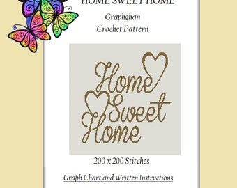 Home Sweet Home - Crochet Graphghan Pattern