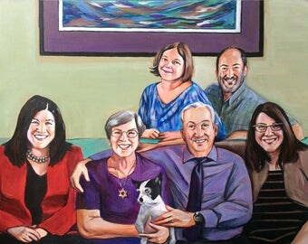 SALE: Custom Portrait 8x10 acrylic on canvas