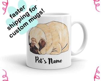 FASTER SHIPPING for Custom Mugs | Pug Mug, Pug Lover Gift, Best Friend Gift Mug, Dog Lover Gifts For Men, For Women, Coffee Mug Cute Gift