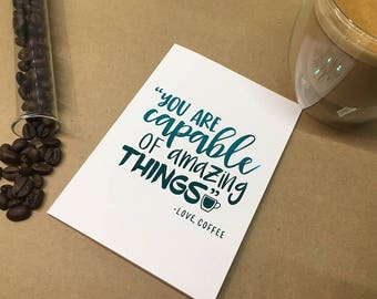 Foiled cards - Coffee quotes - Amazing Things