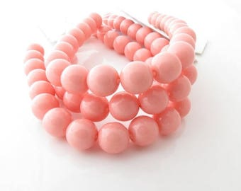 20% Off Sale 8mm Round Vintage Pink Czech Glass Bead Strands - 22 Beads - 02-03s8