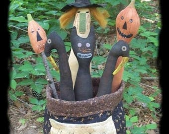 On Sale Primitive Halloween Bucket