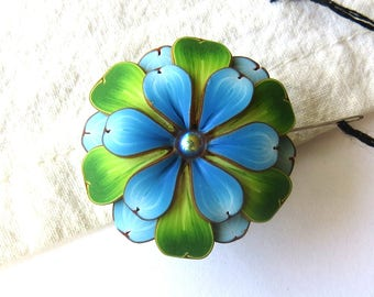 Blue Flower Needle Minder Magnetic Sewing Needle Notions