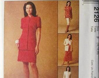 30% OFF SALE 1990s Misses Sewing Pattern McCalls 2126 Misses Jacket, Pants & Skirt Pattern Size 16, 18, 20 Uncut
