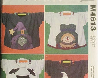 30% OFF SALE Sewing Pattern McCalls 4613 Halloween Sweatshirt Applique Pattern Uncut