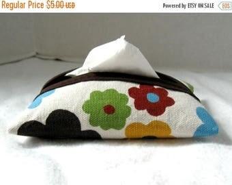 Flash Sale Floral Pocket Tissue Holder Bold Brown Purse Tissue Case