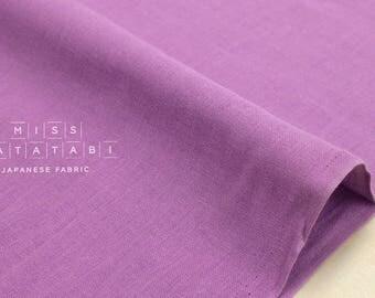 Japanese Fabric - Kobayashi solid double gauze - lilac  - 50cm