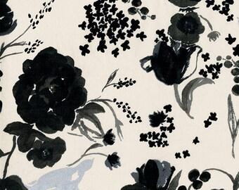Nani Iro BEAU Yin Yang Kokka Japanese Fabric - Cadeau - lawn - cream - 50cm