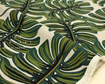 Cotton + Steel Menagerie canvas - monstera - natural - 50cm