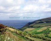 Kinnego Bay, Donegal, Irish Cottage, Ireland Photography, Green Hills, Sea View, Blue Ocean Photo
