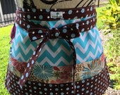Sewing - Quilting - Crafter's - Vendor's - Waitress Half Apron - Yummy Chocolate