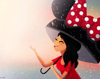 "raining, disney theme decor - ""Minnie"""