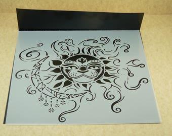 SUN and MOON Laser Cut  TCW  6 x 6 Stencil