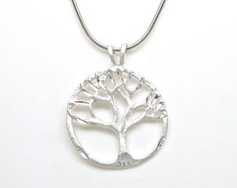 SALE Tree of Life Family Tree Sterling Silver Charm Pendant Customize no. 2034