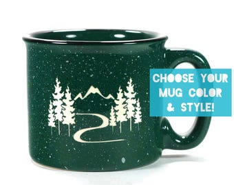 Mountain Trail Mug - Choose Your Hiking Cup Color