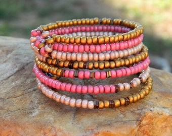 Czech Boho Bead Bangle