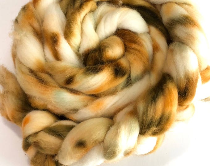 Kettle Dyed Cheviot Wool top. Roving.  Spin or felt. Soft and easy to work with. 1lb. Braid. Ferris