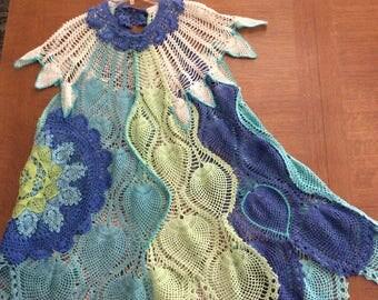 Shabby Chic, Boho, Gypsy Crocheted Top