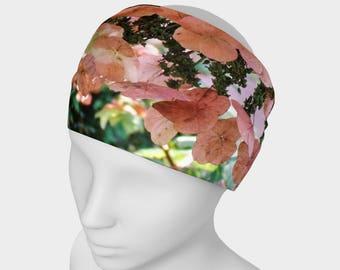 Pink Floral Headwrap/Neckwrap Original Wearable Art