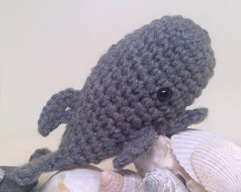 Small Whale amigurumi crochet toy