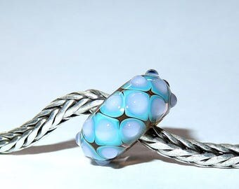 Luccicare Lampwork Bead - Spring Drops -  Lined with Sterling Silver