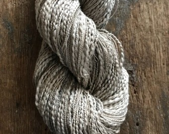 Black Walnut and Tea dyed, thick and thin cotton yarn, 300 yards, plant dyed, grey yarn, botanical dyes, lace to fingering weight