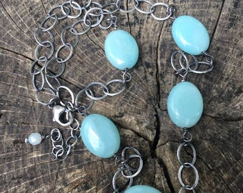 Amazonite Necklace Necklace Adjustable 16 - 18 Inches Long
