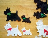 Scottie Dog and Westie Dog Die Cuts, includes puppies,  choice of pack -