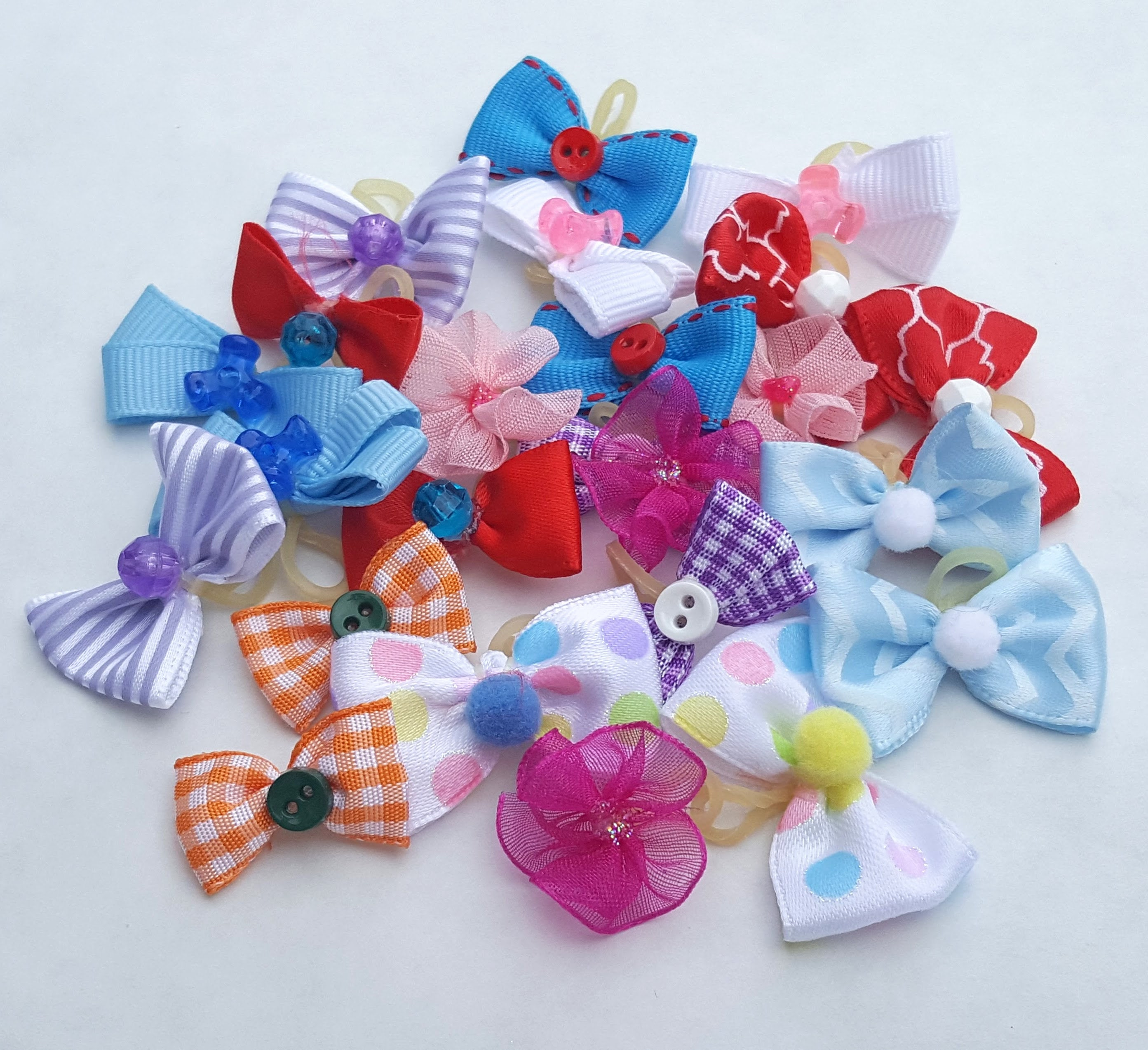 Small puppy dog bows - perfect for the babies and toy breeds