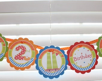 PJs and PANCAKES Birthday Banner / Pajamas & Pancakes Birthday Party / PJs and Pancakes Banner / PJ Birthday Party /  Pajama Party Banner