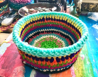 Crochet Basket or Bowl 12 inch