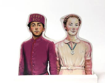 Grand Budapest Hotel Zero and Agatha Wooden Standee