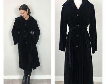 Vintage 60s Velvet JAEGER designer Trench Coat    S   M