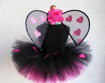 SUMMER SALE 20% OFF Infant Ladybug Tutu Set - Design Your Own Luvbug - Sewn Tutu, Wings Set - Valentine's Day Wings and Tutu - newborn to 24