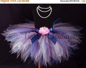 SUMMER SALE 20% OFF Girls Tutu - Birthday Tutu - Blue Pink Tutu - Marina - Custom 12'' Sewn Pixie Tutu - sizes Newborn up to 5T