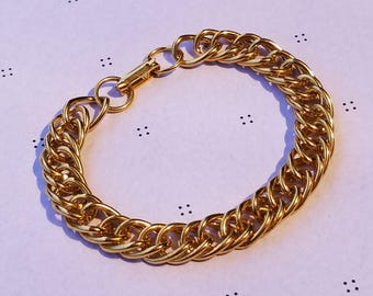 Gold Plated Vintage Bracelets with Clasp 7''