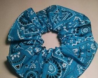 Blue Hair Scrunchie, Brand New