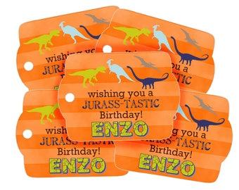 Dinosaur Favor tags, Dinosaur Gift tags, Dinosaur Birthday party, Dinosaur Party Favors, Dino Hang tags, Kids Gift tags
