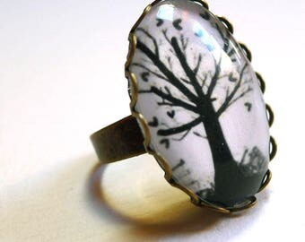 Flower ring, the tree of hearts BAO154B