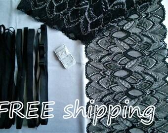 Lingerie Kit FIRM Silver & Black for 1 BRA + Panty FREE Shipping by Merckwaerdigh