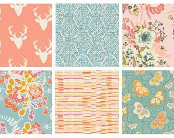 BUNDLE - Hello Bear - Sweet as Honey - Forest Floor - Art Gallery Fabrics - Bonnie Christine - Woodland Quilting Fabric Bundle - Flowers
