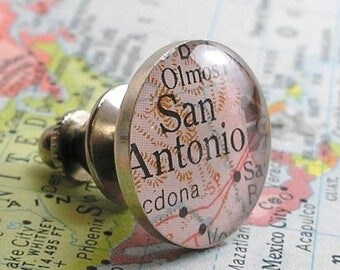 SUMMER SALE Anniversary Gifts or Men Personalized Map Tie Tack