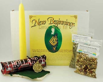 New Beginnings Spell Boxed Ritual Kit-Spells for Love, Spells that work, spell kits, altar kits, witchcraft spells, witch spells,