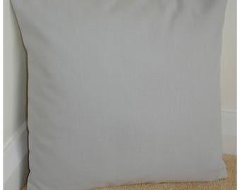 "Gray 24x24 Pillow Cover Grey Cotton 24"" Cushion Case Sham Slip Throw Pillowcase Plain Colour Block Solid Color"