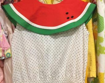 80s Watermelon Dress 6X