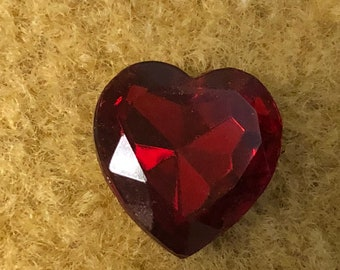 12 Heart Shaped Stones with Foil Back
