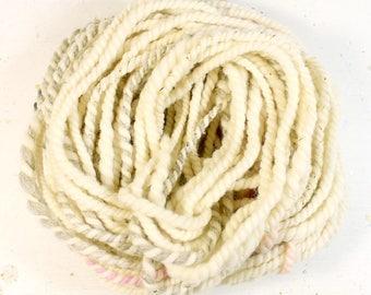 oatmeal 2   ... handspun yarn set, weaving creative yarn bundle, hand spun, hand dyed yarn, handspun art yarn