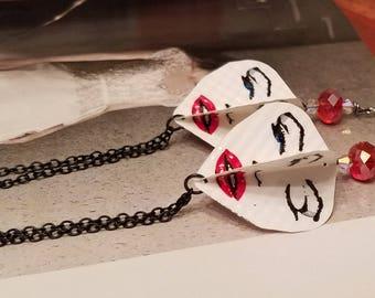 Marilyn Monroe Face  Kite Earrings/Bohemian Gypsy Style