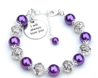 I will always love you jewelry, Gift from Groom to Bride, Love Token, Daughter Gift, Mother Jewelry, Friendship Bracelet, True Friend